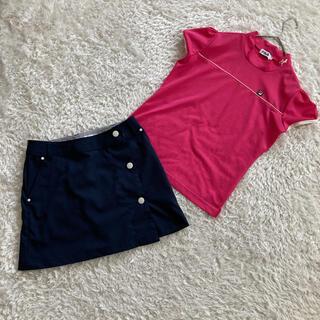 フィラ(FILA)の美品 フィラゴルフ コールウィン ゴルフウェアセット上下 ポロシャツ スカート(ウエア)