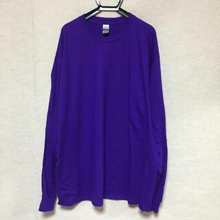 ギルタン(GILDAN)の新品 GILDAN ギルダン 長袖ロンT パープル 紫 XL(Tシャツ/カットソー(七分/長袖))