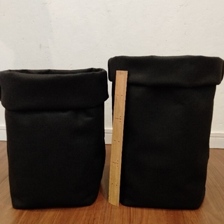 フェルトプランター♡大きいサイズ♡黒 2枚セット♡ 植木鉢 プランター(プランター)