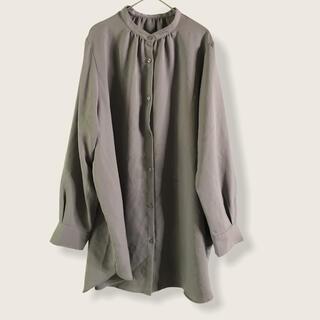 GU - GU ジーユーオーバーサイズロングシャツ XL