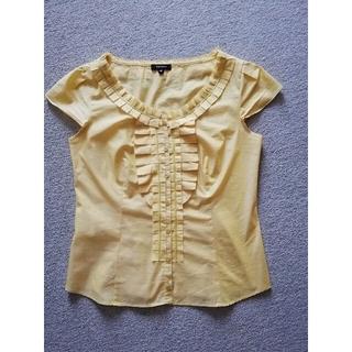 トッカ(TOCCA)のTOCCAイエロー半袖シャツ 日本製/0(シャツ/ブラウス(半袖/袖なし))