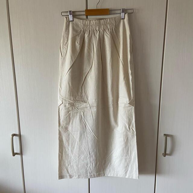 IENA(イエナ)の【新品タグ付き】【2021新作】リネンブレンドタイトスカート【アイボリー】 レディースのスカート(ロングスカート)の商品写真