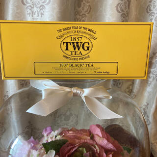 TWG 1837 BLACK®︎TEA (コットンティーバッグ)箱ペタ(茶)