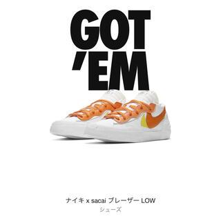 sacai - 【新品】23.5cm NIKE sacai マグマオレンジ