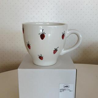 ジェラートピケ(gelato pique)の【新品未使用】ジェラートピケ イチゴ柄マグカップ(グラス/カップ)