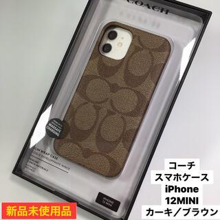 コーチ(COACH)の新品 コーチ  スマホケース iPhone   12  MINI(iPhoneケース)