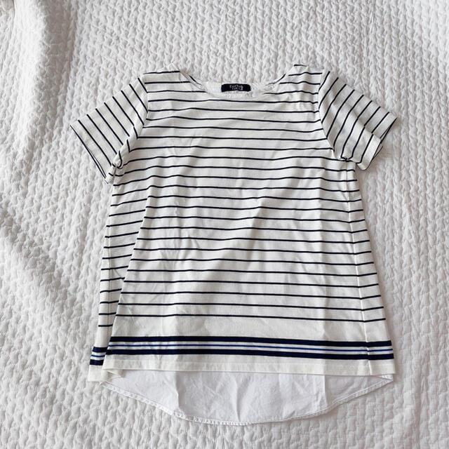 EASTBOY(イーストボーイ)の9号*East Boy COMET ボーダーレイヤードトップス レディースのトップス(Tシャツ(半袖/袖なし))の商品写真