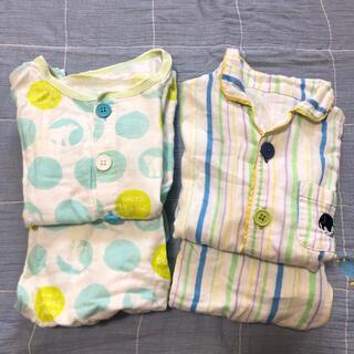 コンビミニ(Combi mini)のコンビミニ ガーゼ生地夏用半袖パジャマ2セット(パジャマ)