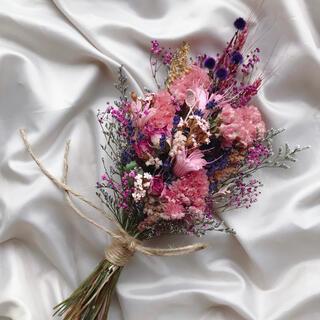 289 ドライフラワースワッグ ピンク系 結婚祝い 新築祝い フラワーギフト(ドライフラワー)