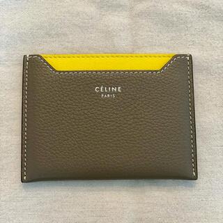 celine - CELINE セリーヌ カードケース バイカラー イエロー