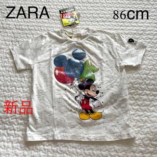 ザラキッズ(ZARA KIDS)の新品 ZARA kids ミッキーTシャツ(Tシャツ)