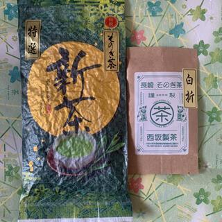 新茶 そのぎ茶 特選玉緑茶100g 白折10gおまけ付き(茶)