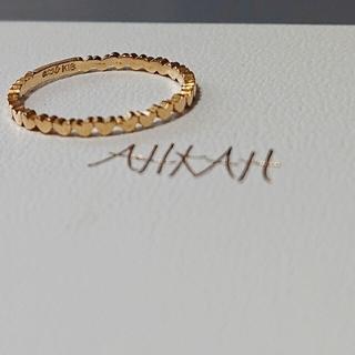 アーカー(AHKAH)のahkah K18イエローゴールド アンハートエタニティ リング 9号 (リング(指輪))