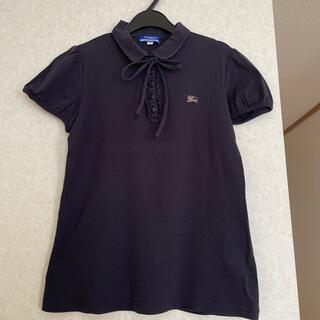 BURBERRY BLUE LABEL - バーバリーブルーレーベル パフスリーブ リボン付き ポロシャツ ホースマーク