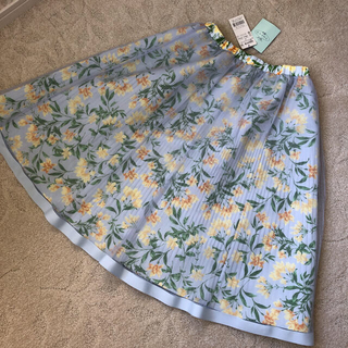 TOCCA - トッカ チュール プリーツ 花柄 フレアスカート