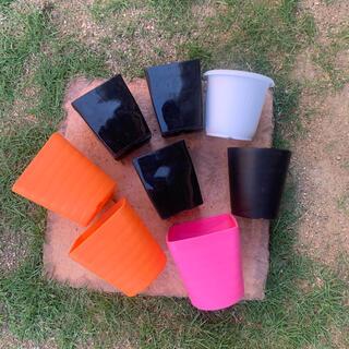 中古プラ鉢 8個 プラスチック鉢(プランター)