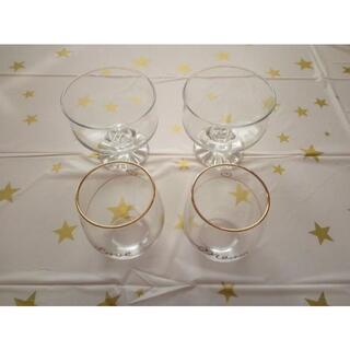 フランフラン(Francfranc)の新品Francfrancペアグラス+デザートグラス2+星クロス(グラス/カップ)