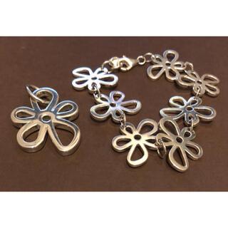 ティファニー(Tiffany & Co.)の美品 TOUS シルバー ブレスレット ペンダント ネックレス ティファニー(ブレスレット/バングル)