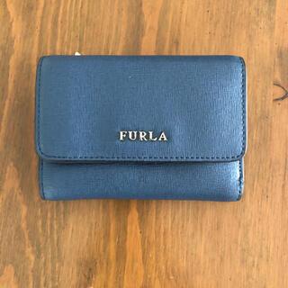 Furla - 【美品】FURLA 三つ折り財布 ブルー