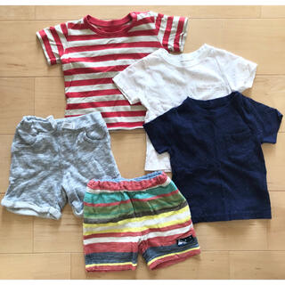 ニシマツヤ(西松屋)のボーイズ 夏服セット(Tシャツ)