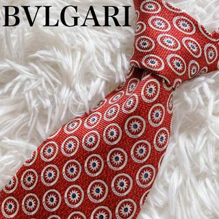 ブルガリ(BVLGARI)の極美品 ブルガリ ネクタイ 小紋 総柄 ハイブランド 豪華 オシャレ ビジネス(ネクタイ)