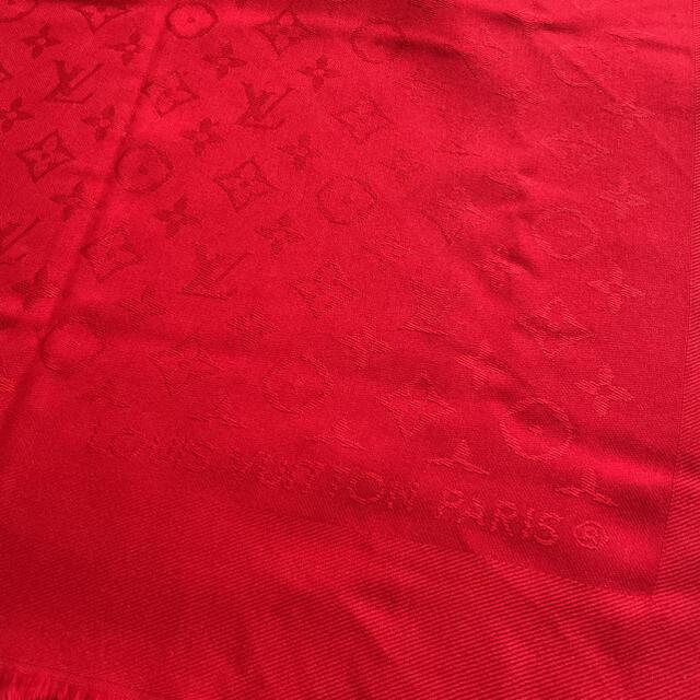 LOUIS VUITTON(ルイヴィトン)のヴィトン 大判ショール レッド レディースのファッション小物(マフラー/ショール)の商品写真