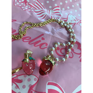 Angelic Pretty - angelicpretty crystal berryネックレスリングset