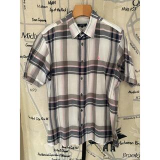 BURBERRY - バーバリー チェック柄 ストライプ 半袖 シャツ