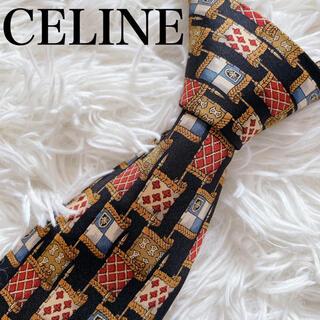 celine - 極美品 セリーヌ ネクタイ 総柄 旗 旗柄 国旗 オシャレ ビジネス フランス製