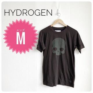 ハイドロゲン(HYDROGEN)の【オシャレ】HYDROGEN Tシャツ メンズ ドクロ 春服 ブラック(Tシャツ/カットソー(半袖/袖なし))