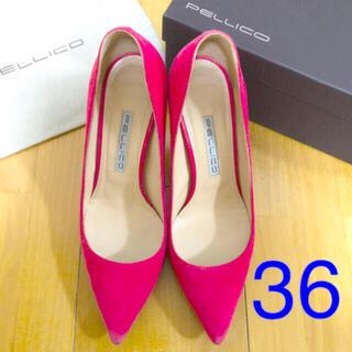 PELLICO - PELLICO パンプス ピンク サイズ36 ヒール8.0cm