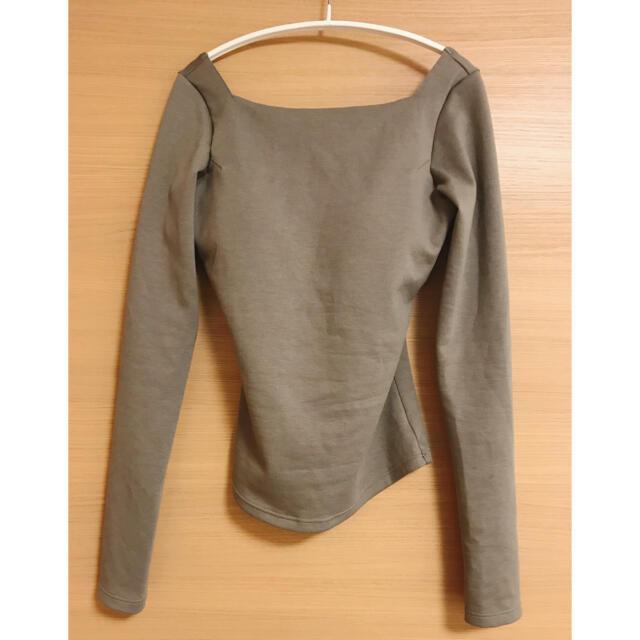 Ravijour(ラヴィジュール)のラヴィジュール オープンバック ロングスリーブTシャツ レディースのトップス(Tシャツ(半袖/袖なし))の商品写真