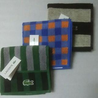 ラコステ(LACOSTE)のラクマパック No.76 ラコステ タオルハンカチ 3枚セット(ハンカチ/ポケットチーフ)