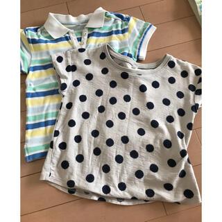 ムジルシリョウヒン(MUJI (無印良品))の無印水玉tシャツ100センチ110センチユニクロポロシャツセット(Tシャツ/カットソー)
