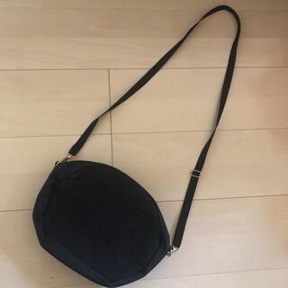 mina perhonen - ミナペルホネン ブラック×ブラック タンバリン ショルダーバッグ ハンドメイド