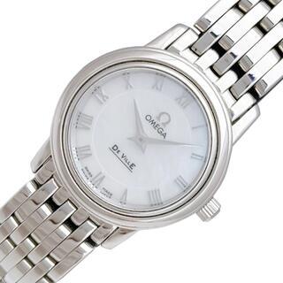 オメガ(OMEGA)のオメガ OMEGA デビル プレステージ シェル文字盤 腕時計 レディ【中古】(腕時計)