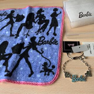 バービー(Barbie)のバービーブレスレット(未使用)とタオルハンカチ(ブレスレット/バングル)