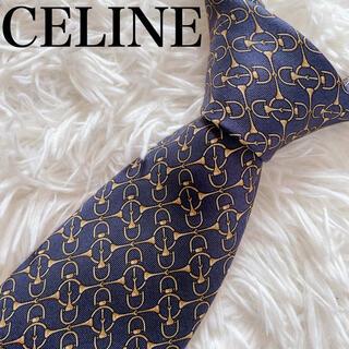 セリーヌ(celine)の極美品 セリーヌ ネクタイ チェック柄 パターン柄 ハイブランド ビジネス 豪華(ネクタイ)