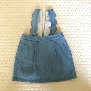 プティマイン(petit main)のプティマイン デニム ジャンパースカート(スカート)
