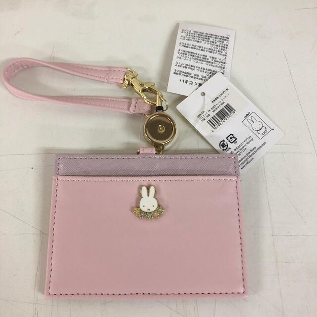 ミッフィー  パスケース お花チャーム ミッフィー 定期入れ ケース ピンク レディースのファッション小物(パスケース/IDカードホルダー)の商品写真