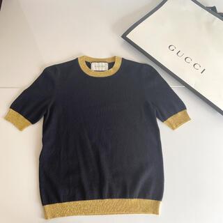 グッチ(Gucci)のGUCCI 半袖 ニット カシミヤ(ニット/セーター)