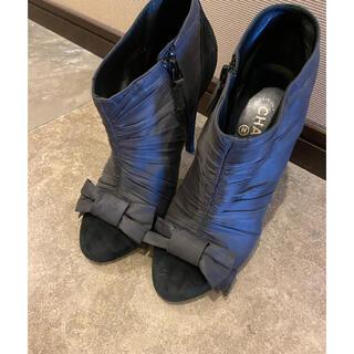 シャネル(CHANEL)のシャネル リボン ショート ブーツ(ブーツ)