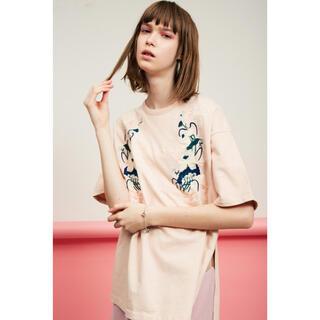 ファーファー(fur fur)の新品未使用 FURFUR エンブロイダリーTシャツ(Tシャツ(半袖/袖なし))