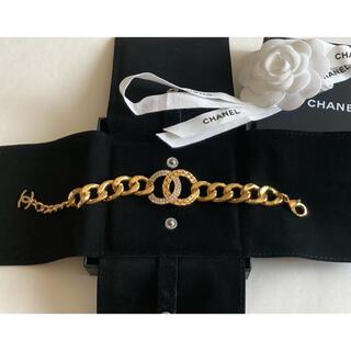 シャネル(CHANEL)のシャネル❤️太チェーン ビックロゴ ブレスレット❤️極美品(ブレスレット/バングル)