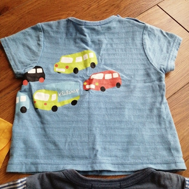 kladskap(クレードスコープ)のクレードスコープ Tシャツ セット 80cm 90cm 電車 車 夏 半袖 キッズ/ベビー/マタニティのベビー服(~85cm)(Tシャツ)の商品写真