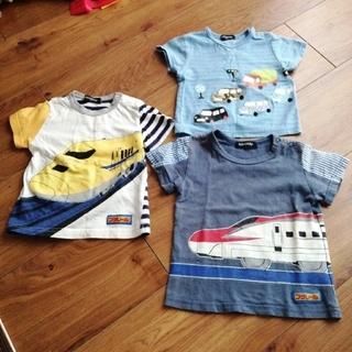 kladskap - クレードスコープ Tシャツ セット 80cm 90cm 電車 車 夏 半袖