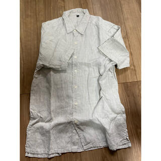 MUJI (無印良品) - 麻 半袖シャツ 無印