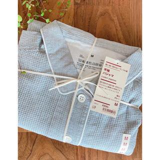 MUJI (無印良品) - 無印良品  脇に縫い目のないワッフル織り半袖パジャマ  新品未使用  Mサイズ