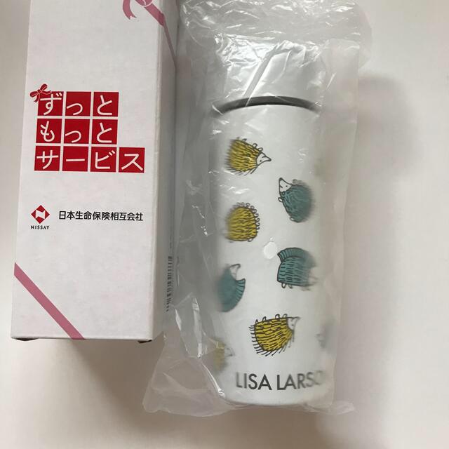 Lisa Larson(リサラーソン)のリサラーソン ミニボトル ステンレスボトル 日本生命 新品 インテリア/住まい/日用品のキッチン/食器(タンブラー)の商品写真