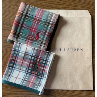 Ralph Lauren - POLO RALPH LAUREN 新品未使用タオルハンカチ2枚セット 送料込み